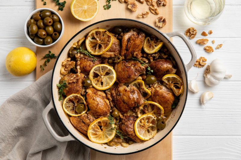 2019-12_Donovan_White Wine Braised Chicken with Green Olives_FS-1v2