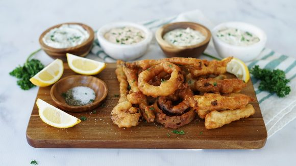 Portfolio dish works beer battered onion rings and veggies forumfinder Choice Image