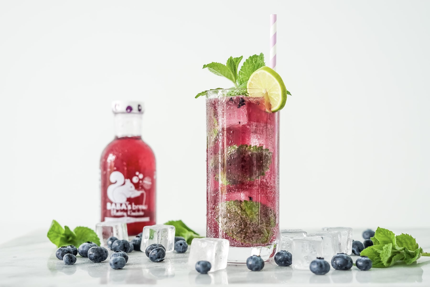 Blueberry Kombucha Mojito HERO