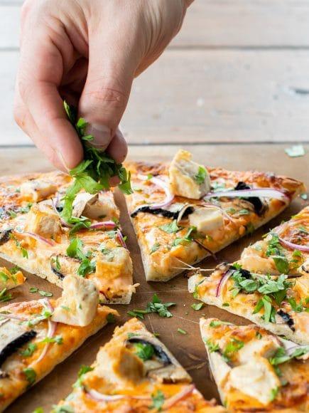 Chicken Mushroom Pizza-0893