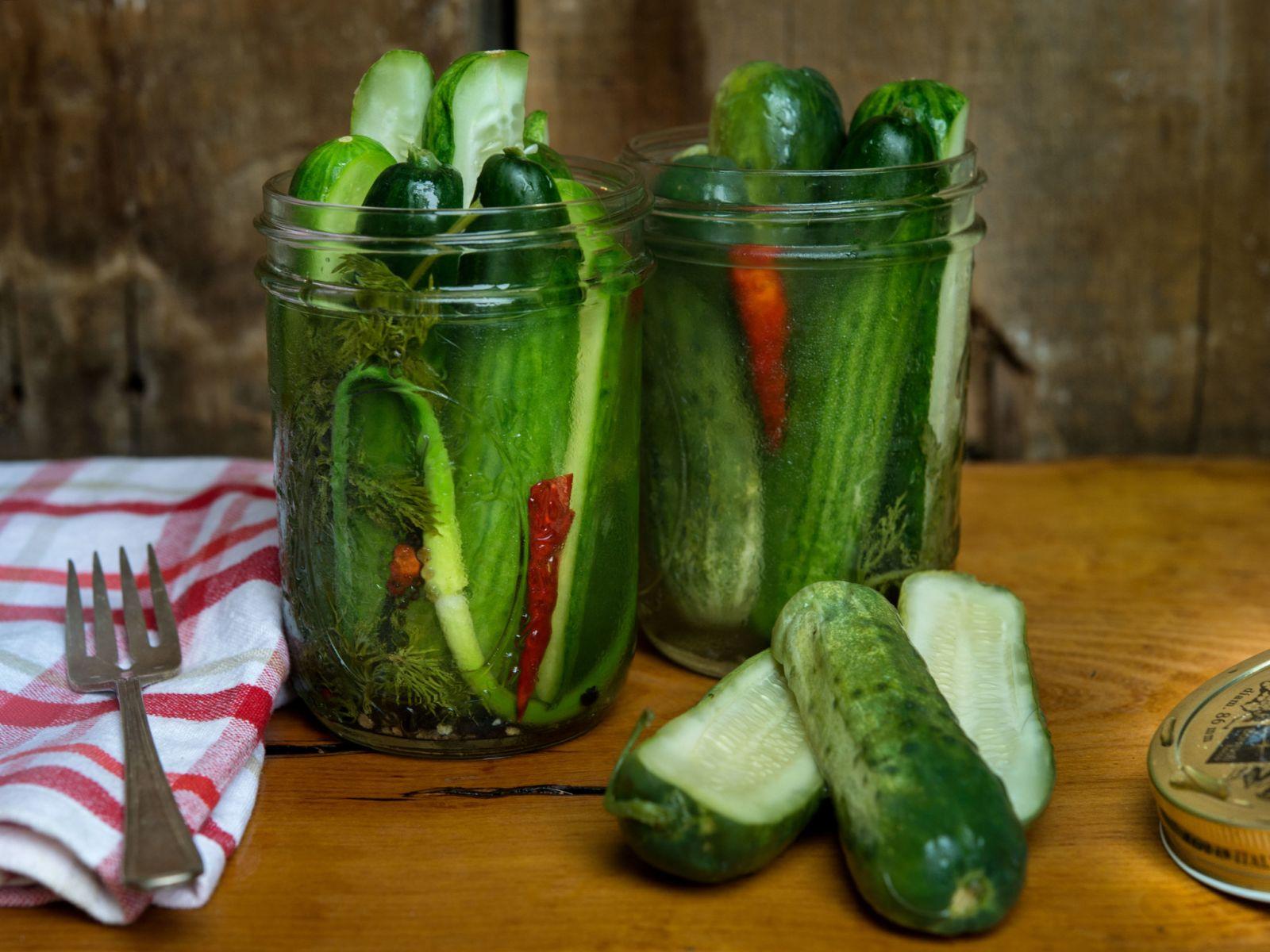Cider-Spiked-Pickles-in-Jars