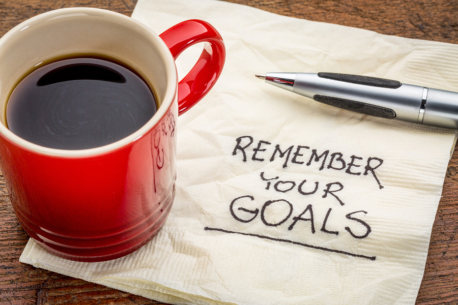 remember your goals and coffee mug