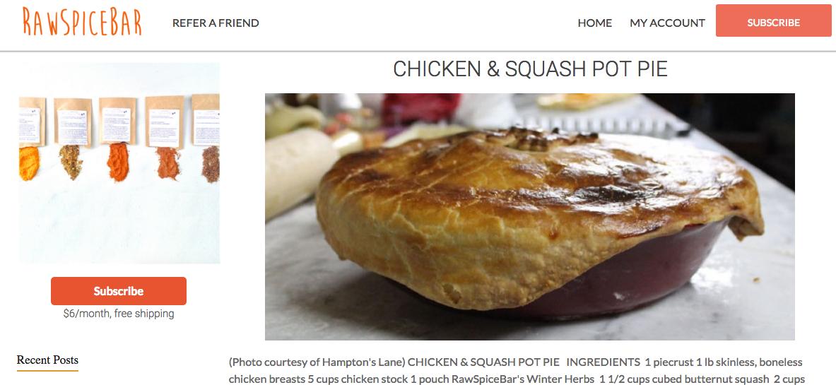 Weekly pick food subscription box recipe blog dish works dwweeklypickrawspicebar monthly subscription forumfinder Gallery