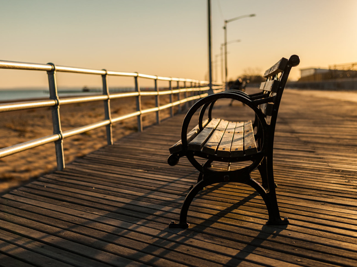 bench at the beach