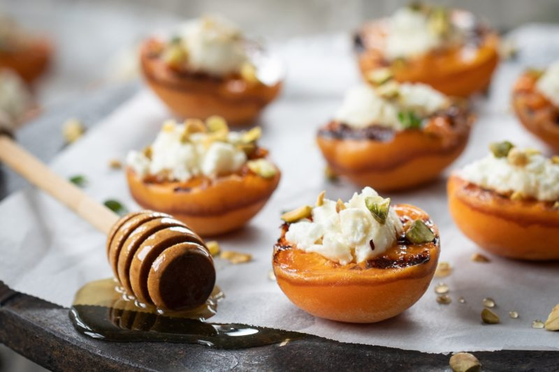 Grilled Goat Cheese Stuffed Apricots 2019-7-25 PAE-1042