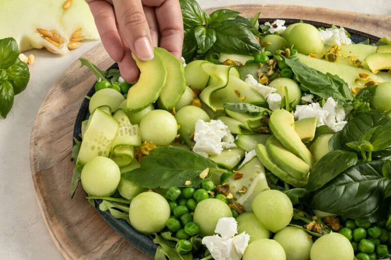 MELONP05A2 Green Goddess Honeydew Salad