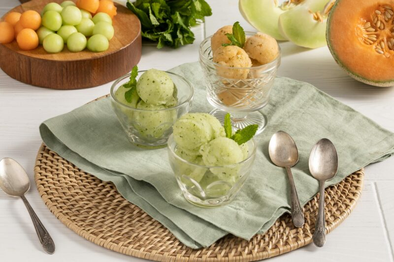 MELONP07C Melon and Mint Sorbet