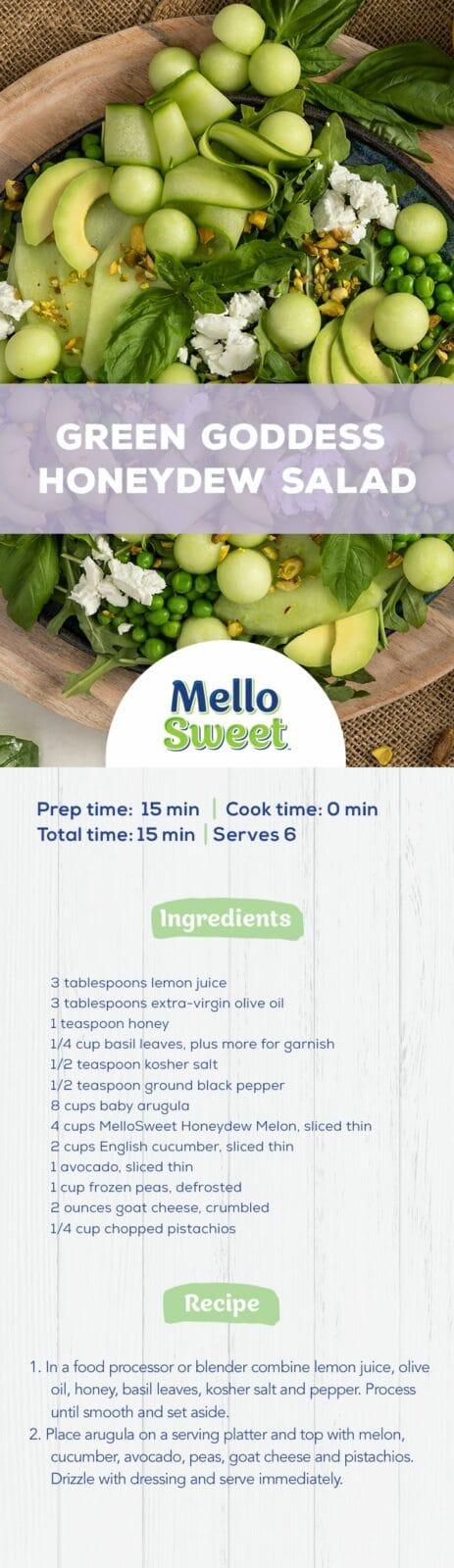 MelloSweet_PinterestPinPinterest_Green Goddess Honeydew Salad