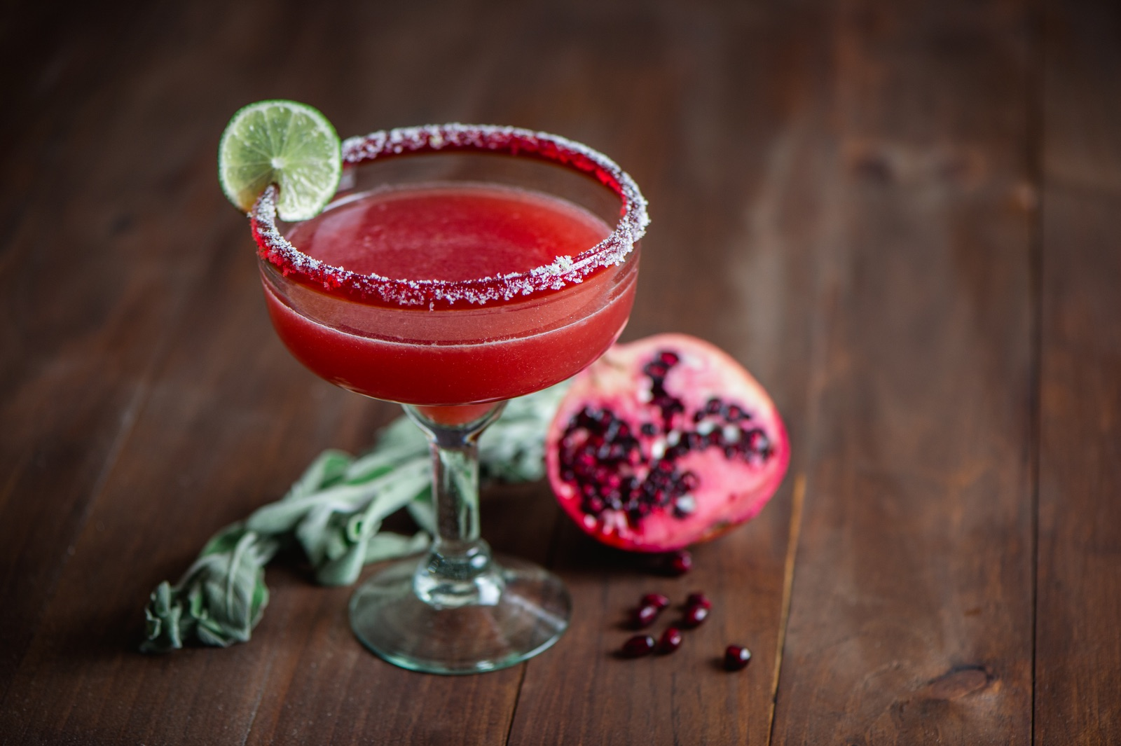 Pomegranate, Sage and Jalapeño PA Wine Margarita
