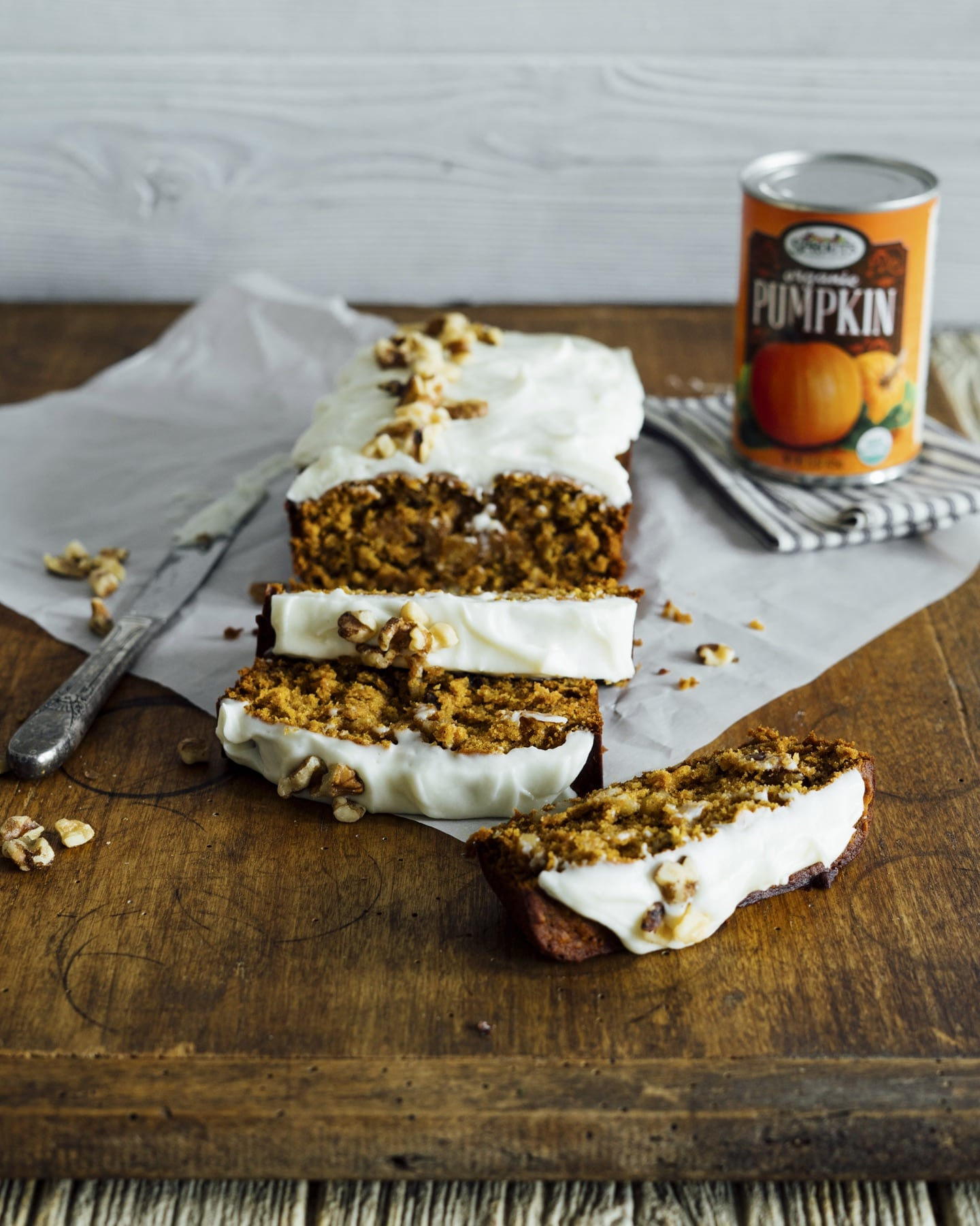 Pumpkin Breakfast Bread with Cream Cheese Spread HERO
