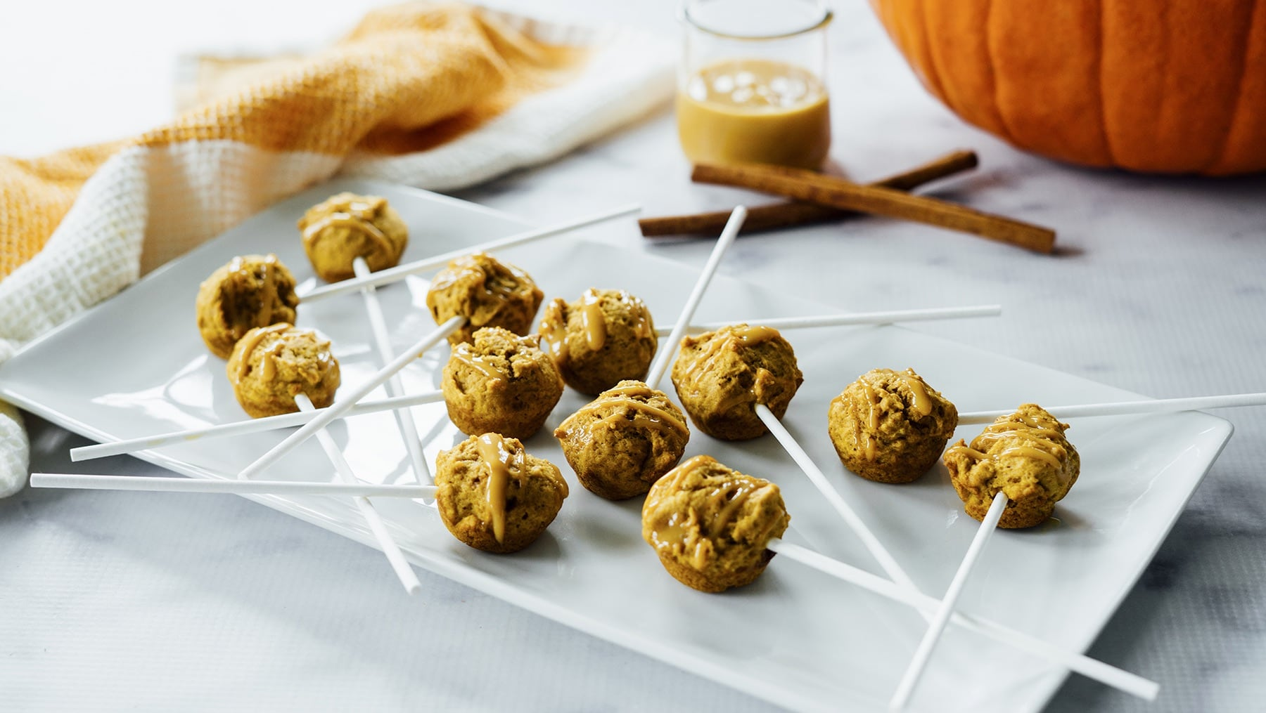 Pumpkin Donut Pops HERO