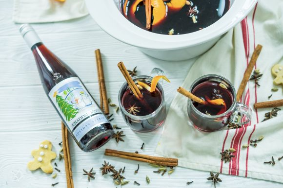 Slow Cooker Maple Bourbon Mulled Wine