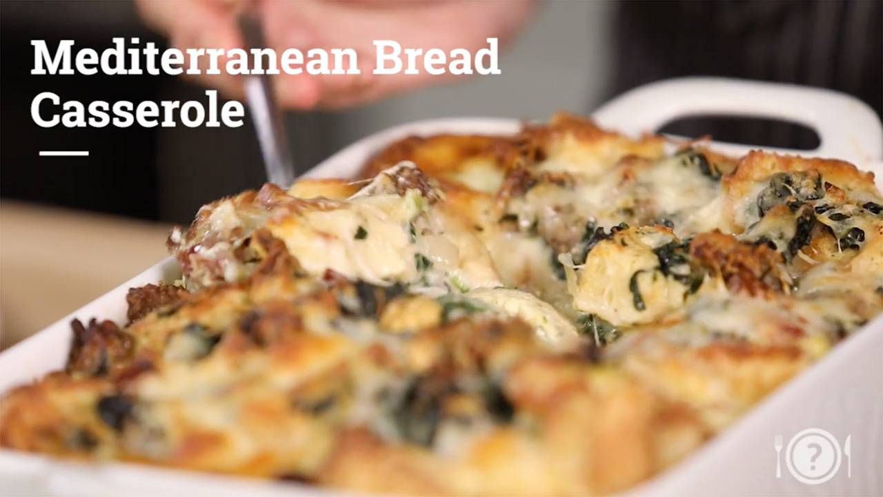 Video-Recipe-Mediterranean-Bread-Casserole__Whats-For-Dinner
