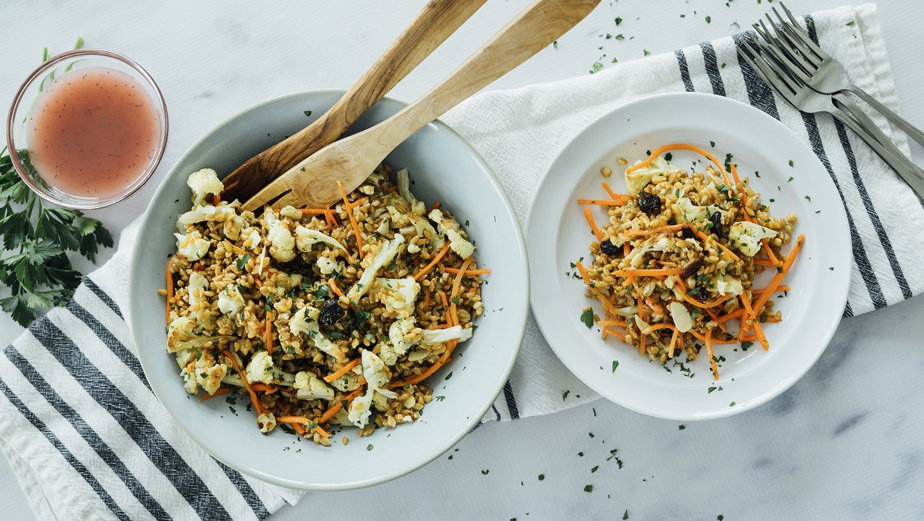 Wheat Berry and Cauliflower Salad HERO