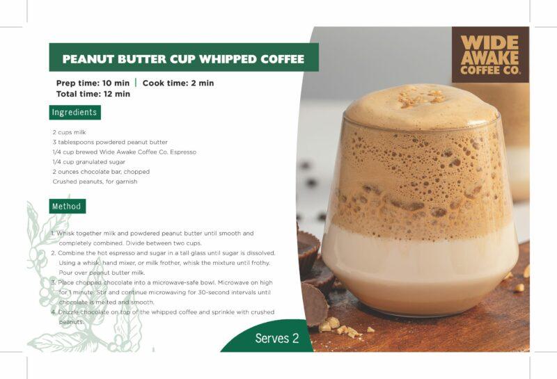 WideAwake_ShelfTalker_Peanut Butter Cup Whipped Coffee