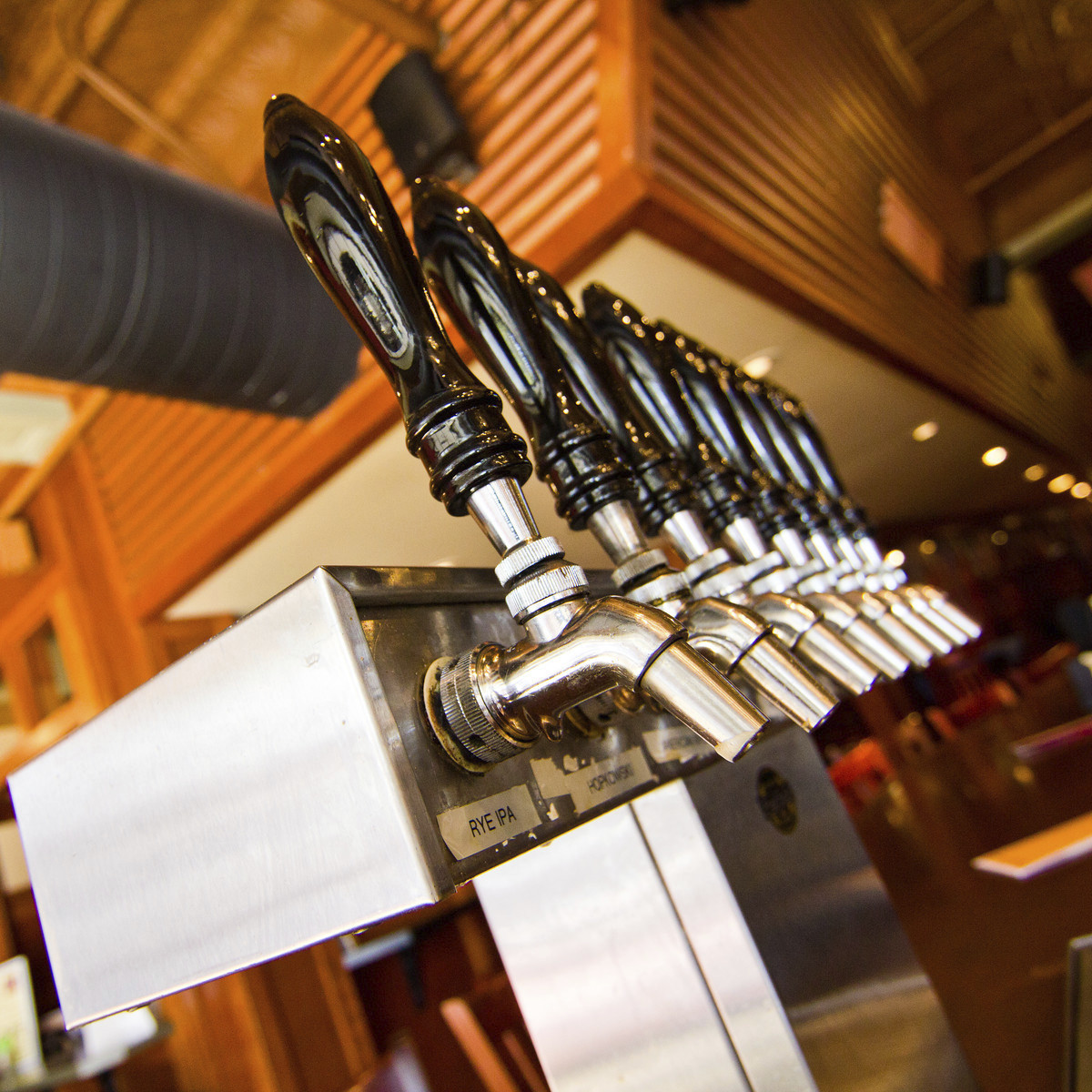 Taps, Iron Hill Brewery