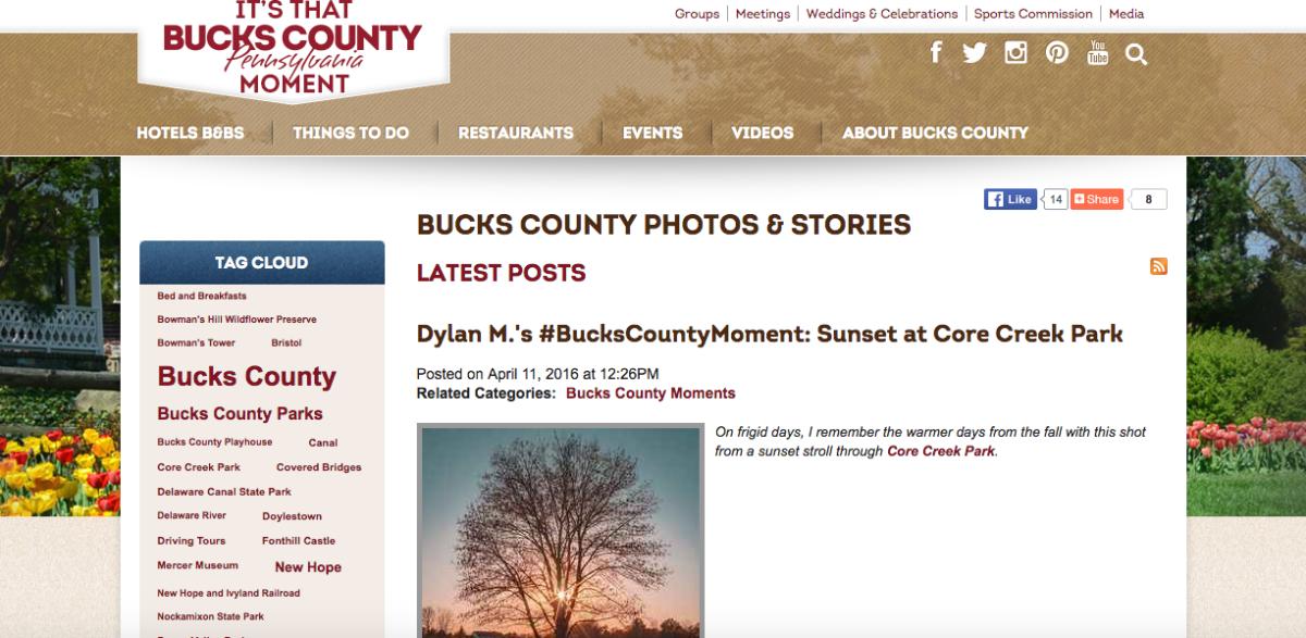 bucks county screenshot